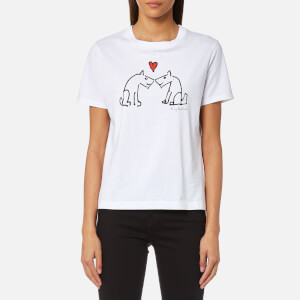 PS by Paul Smith Women's Puppy Print T-Shirt - White