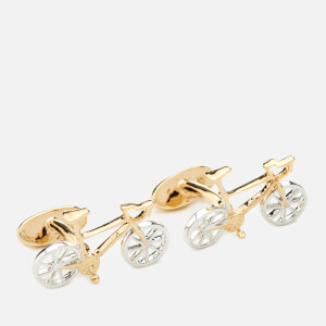 Paul Smith Men's Racing Bike Cufflinks - Brass