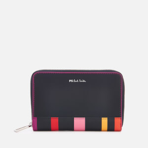 PS by Paul Smith Women's Multi Stripe Trim Zip Around Purse - Navy