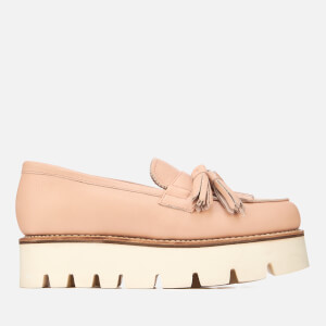 Grenson Women's Claudia Leather Flatform Loafers - Pink