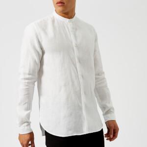 HUGO Men's Eddison Grandad Shirt - White