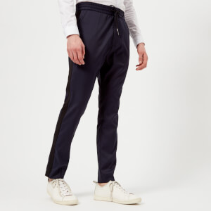 HUGO Men's Himesh Tape Detail Trousers - Navy