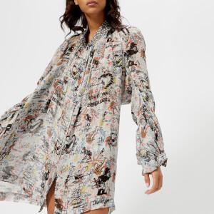 Vivienne Westwood Anglomania Women's Grateful Print Viscose Shirt - Multi