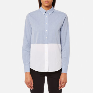 GANT Women's Chambray Block Shirt - Blue Ocean