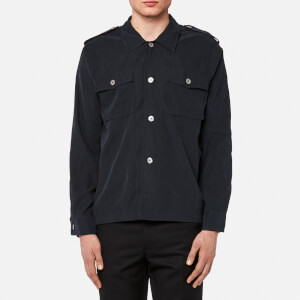 Our Legacy Men's Casual Military Shirt - Black Tech Cupro