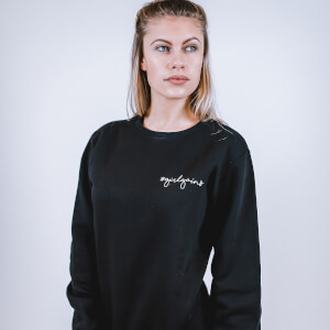 Girl Gains #GirlGains Sweatshirt - Black