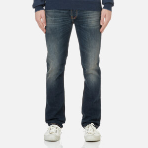 Nudie Jeans Men's Dude Dan Straight Fit Jeans - Dark Authentic Comf