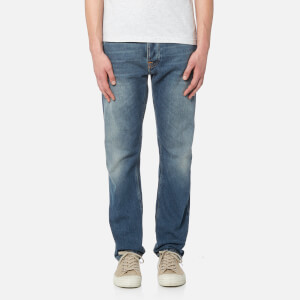 Nudie Jeans Men's Fearless Freddie Carrot Fit Jeans - Crispy Clear
