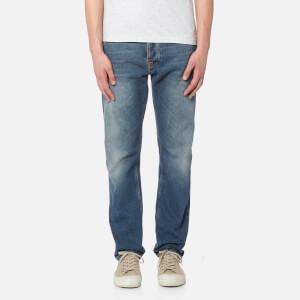 Nudie Jeans Men's Fearless Freddie Carrot Fit Jeans - Crispy Clear