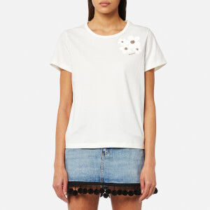 Marc Jacobs Women's Cap Sleeve Scoop Neck T-Shirt - Ivory