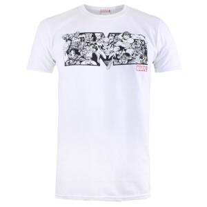 Marvel Men's Characters T-Shirt - White