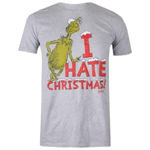 """Camiseta Navidad El Grinch """"I Hate Christmas!"""" - Hombre - Gris"""