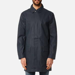 Hunter Men's Original Rubberised Raincoat - Navy