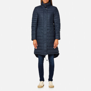 Hunter Women's Original Refined Long Down Coat - Navy