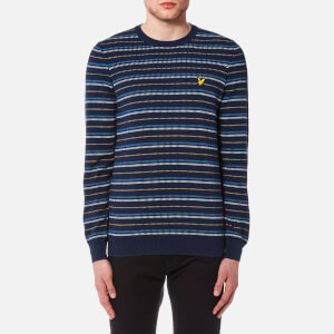 Lyle & Scott Men's Pick Stitch Jumper - Navy