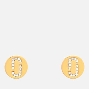 Marc Jacobs Women's Double J Pave Studs - Gold