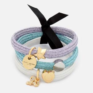 Marc Jacobs Women's MJ Double Cut Out Pony Bracelet - Silver Multi