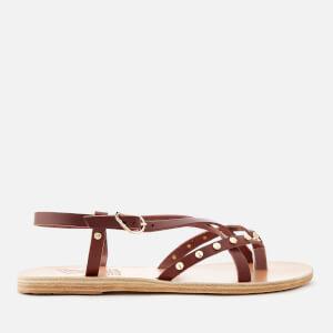 Ancient Greek Sandals Women's Semele Nails Sandals - Chestnut