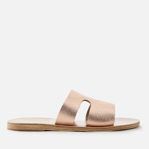 Ancient Greek Sandals Women's Apteros Metallic Slide Sandals - Pink Metal/Sand