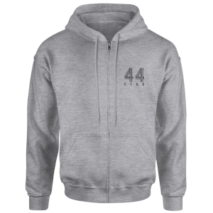 How Ridiculous 44 Club Zipped Hoody - Sports Grey