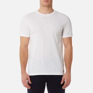 7 For All Mankind Men's Basic T-Shirt - Off White