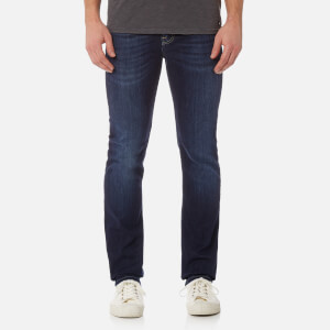 7 For All Mankind Men's Slimmy Denim Jeans - NY Dark Used