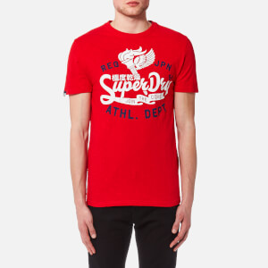 Superdry Men's Athletic Core 54 T-Shirt - Riviera Red Slub
