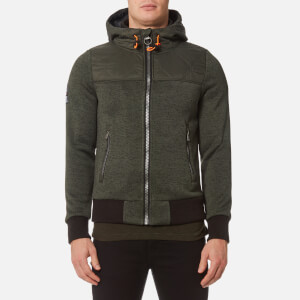 Superdry Men's Storm Mountain Hybrid Zip Hoody - Olive
