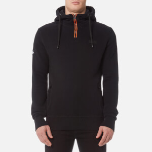 Superdry Men's Orange Label Urban Flash Half Zip Hoody - Black