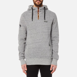 Superdry Men's Orange Label Urban Flash Half Zip Hoody - Urban Grey Grit
