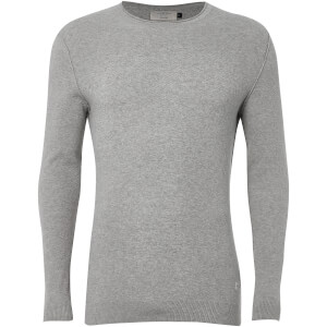 Jack & Jones Originals Men's Nash Textured Jumper - Light Grey Marl