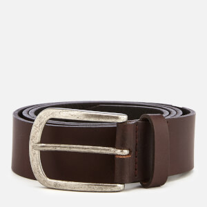Jack & Jones Men's Ace Leather Belt - Black Coffee