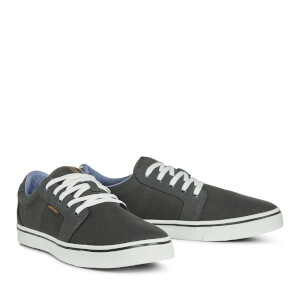 Jack & Jones Men's Banda Canvas Mix Trainers - Beluga