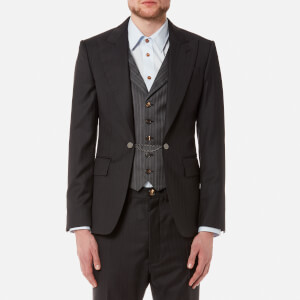 Vivienne Westwood MAN Men's Morning Stripe Waistcoat Jacket - Black