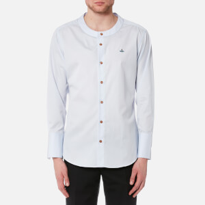 Vivienne Westwood MAN Men's Poplin Low Neck Shirt - Light Blue