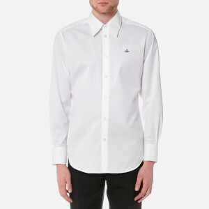 Vivienne Westwood MAN Men's Poplin Cutaway Long Sleeve Shirt - White