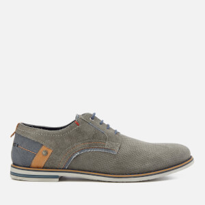 Wrangler Men's Tower Derby Suede Shoes - Grey