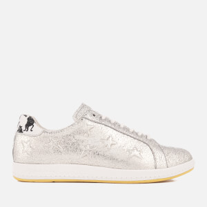 PS by Paul Smith Women's Lapin Leather Court Trainers - Metallic Silver