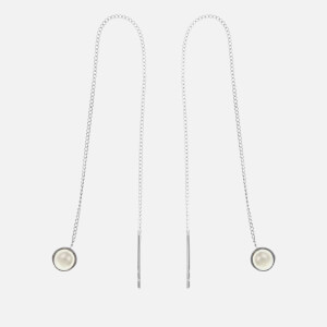 Cornelia Webb Women's Refined Pearl Chain Earrings - Silver