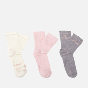 Ted Baker Women's Candie Cat Triple Sock Pack - Light Pink