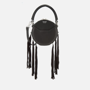 SALAR Women's Lea Fringe Cross Body Bag - Black