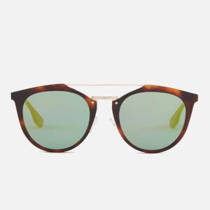 McQ Alexander McQueen Tortoise Shell Aviator Sunglasses - Havana/Gold/Green