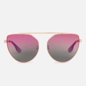 McQ Alexander McQueen Women's Metal Frame Sunglasses - Gold/Pink
