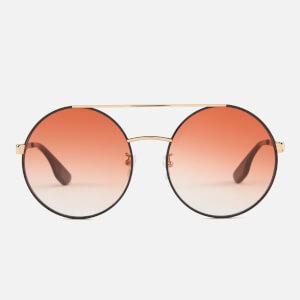 McQ Alexander McQueen Women's Round Metal Frame Sunglasses - Pink/Black
