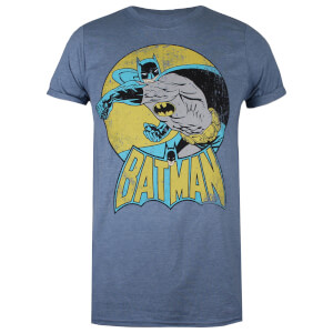 DC Comics Women's Batman Retro T-Shirt - Heather Indigo