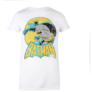 DC Comics Women's Batman Retro T-Shirt - White