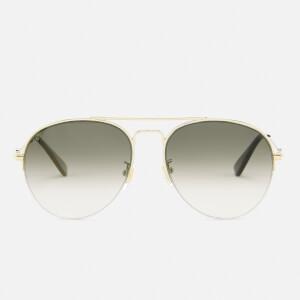 Gucci Women's Aviator Sunglasses - Gold/Brown