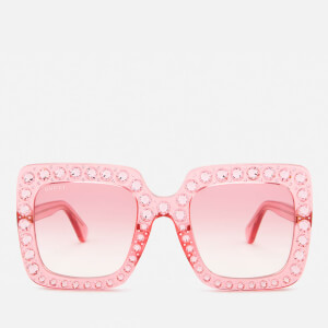 Gucci Women's Large Square Frame Sunglasses - Pink