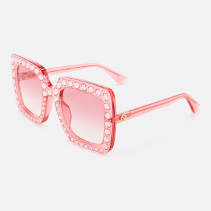 Gucci Women's Large Square Frame Sunglasses - Pink: Image 2