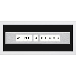Playing Card Co 'Wine O Clock' Framed Vintage Style Playing Cards - 66x 25cm